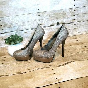 Bamboo Glitter Stiletto Heels